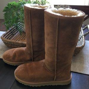 UGG Classic Tall Chestnut Sheepskin Boots Size 7